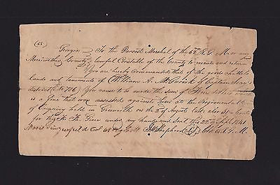 JW SHEPHERD PRE-CIVIL WAR GEORGIA AUTOGRAPH SIGNED MILITARY DISCIPLINE DOCUMENT - K-townConsignments