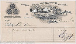 GOULD & CUTLER PAINTS OILS VARNISH UNION ST BOSTON ANTIQUE ENGRAVING STATIONERY - K-townConsignments