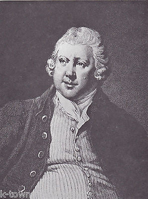 Sir Richard Arkwright English Inventor Vintage Portrait Gallery Poster Print - K-townConsignments