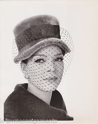 NANCY WESTBROOK LILLY DACHE FASHION MODEL MILLINERY COLLECTION PROMO PHOTO - K-townConsignments