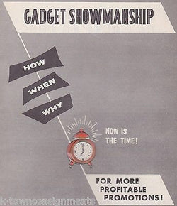 GADGET SHOWMANSHIP HEWIG MARVIC VINTAGE GRAPHIC ADVERTISING PROMOS SALES CATALOG - K-townConsignments