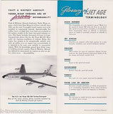 WESTERN AIRLINES VINTAGE WELCOME ABOARD GRAPHIC ADVERTISING BROCHURES PACKET - K-townConsignments