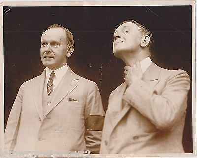 President Coolidge & VP Charles Dawes Campaign Antique 1920s News Press Photo - K-townConsignments