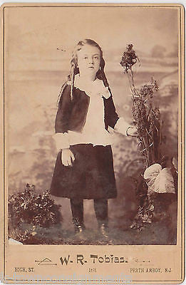 LONG HAIR LITTLE BOY FAUTLEROY SUIT KILT DRESS ANTIQUE 1890s CABINET PHOTOGRAPH - K-townConsignments