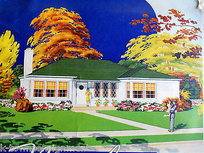 AMERICAN DREAM HOME REAL ESTATE VINTAGE WWII GRAPHIC ADVERTISING POSTER PRINT - K-townConsignments