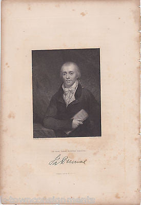 SPENCER PERCEVAL BRITISH PRIME MINISTER ANTIQUE SIGNATURE ENGRAVING PRINT 1835 - K-townConsignments