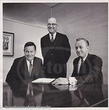 DON McCOMBER ROBERT DERR INDUSTRIAL INDEMNITY PRESIDENT VINTAGE NEWS PRESS PHOTO - K-townConsignments