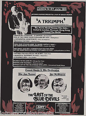 COUNT BASIE BIG JOE TURNER VINTAGE LAST OF THE BLUE DEVILS MOVIE POSTER NEGATIVE - K-townConsignments