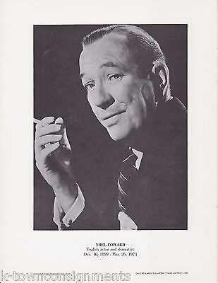 Noel Coward English Actor Dramatist Vintage Portrait Gallery Poster Photo Print - K-townConsignments