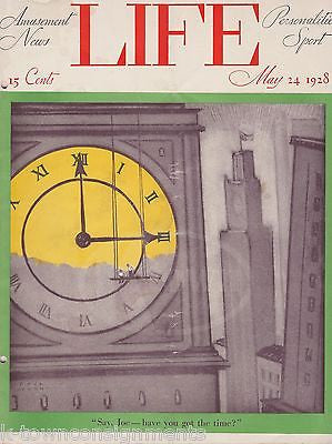 PAUL WEBB CLOCK TOWER COVER ART CP RAIL GRAPHIC ILLUSTRATED LIFE MAGAZINE 1928 - K-townConsignments