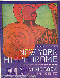 WARS OF THE WORLD NEW YORK HIPPODROME THEATRE ANTIQUE SOUVENIR PROGRAM BOOK 1914 - K-townConsignments