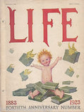 40th ANNIVERSARY BABY GIBSON COVER ART GRAPHIC ILLUSTRATED LIFE MAGAZINE 1923 - K-townConsignments