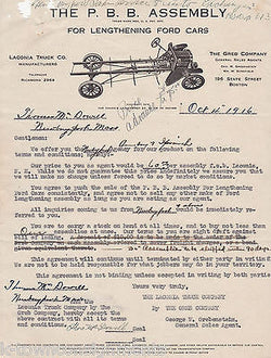 PBB ANTIQUE CARS SHOCK ABSORBERS GRAPHIC ADVERTISING SALES PAPERS 1916 - K-townConsignments