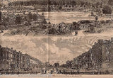 BOSTON COMMON & COMMONWEALTH AVENUE ANTIQUE GRAPHIC ENGRAVING POSTER PRINT 1867 - K-townConsignments