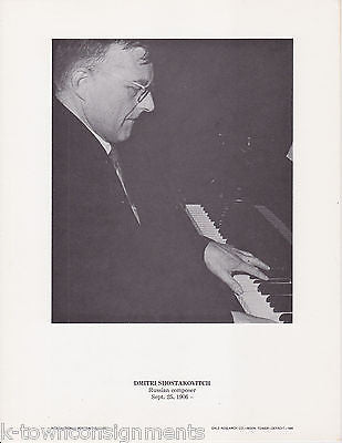 Dmitri Shostakovitch Composer Russia Vintage Portrait Gallery Poster Photo Print - K-townConsignments