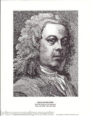 William Hogarth English Painter & Engraver Vintage Portrait Gallery Poster Print - K-townConsignments