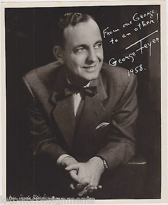 GEORGE FEYER CLASSICAL PIANIST VINTAGE AUTOGRAPH SIGNED STUDIO PROMO PHOTO 1958 - K-townConsignments