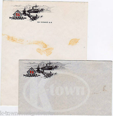 ALASKA LINE STEAMSHIP COMPANY ANTIQUE 1930s GRAPHIC STATIONERY LETTERHEAD MAILER - K-townConsignments