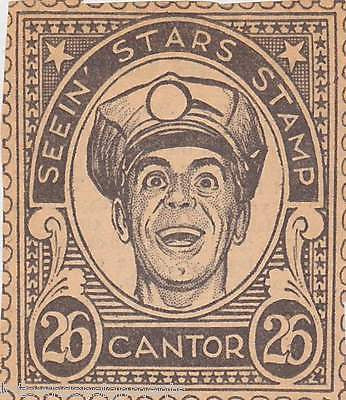 EDDIE CANTOR MOVIE ACTOR VINTAGE SEEIN STARS STAMP GRAPHIC PROMO CLIPPING - K-townConsignments