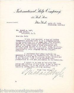 MICHAEL DOYLE INTERNATIONAL PULP COMPANY ANTIQUE AUTOGRAPH SIGNED LETTERHEAD '27 - K-townConsignments