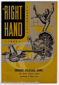 THE RIGHT HAND TRIDENT PRINTING CORP VINTAGE GRAPHIC AMERICANA ADVERTISING BOOK - K-townConsignments