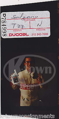 BRETT BODINE SUPERFLO OIL ORIGINAL VINTAGE NASCAR ADVERTISING PHOTO NEGATIVE - K-townConsignments