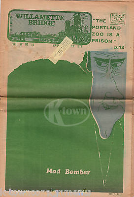 RICHARD NIXON CARTOON POLICE BRUTALITY & MORE VINTAGE PORTLAND HIPPIE NEWSPAPER - K-townConsignments