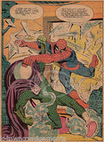 SPIDER-MAN HARD LUCK KID VS MYSTERIO VINTAGE GIANT COMIC BOOK PAGE POSTER PRINT - K-townConsignments