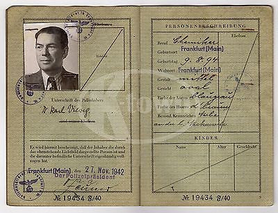 WWII GERMAN CANCELLED PASSPORT TRAVEL DOCUMENTS MANY STAMPS 1940-1942 & HOLDER - K-townConsignments