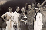 JIMMY DURANTE & COPACABANA CHORUS GIRLS AMERICAN AIRLINES FLIGHT PRESS PHOTO - K-townConsignments