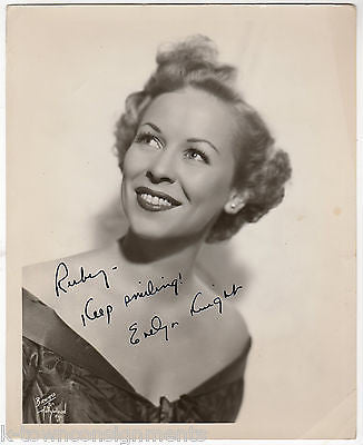 EVELYN KNIGHT STARDUSTERS MUSIC SINGER VINTAGE AUTOGRAPH SIGNED PROMO PHOTO - K-townConsignments