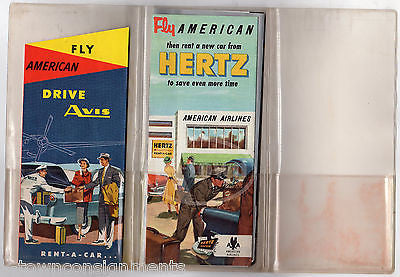 AMERICAN AIRLINES VINTAGE GRAPHIC ADVERTISING 1st CLASS FLIGHT PACKET & FLYERS - K-townConsignments