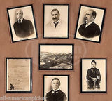 JAMES CAMERON HENRY CABOT LODGE HISTORY OF CUBA ANTIQUE PHOTO TOBACCO CARDS - K-townConsignments