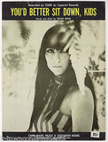 CHER YOU'D BETTER SIT DOWN KIDS BY SONNY BONO ORIGNAL VINTAGE SHEET MUSIC 1967 - K-townConsignments