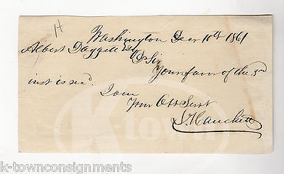 LUTHER HANCHETT WISCONSIN CIVIL WAR CONGRESSMAN ANTIQUE AUTOGRAPH SIGNED NOTE - K-townConsignments