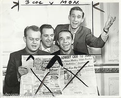 THE FOUR LADS APPEAR AT SAN FRAN ADVERTISING CLUB VINTAGE PRESS PHOTO - K-townConsignments