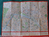 OLD WWII AMERICAN CROSS PARIS BROCHURE MADE FROM RECYCLED CAPTURED GERMAN MAPS - K-townConsignments