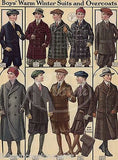 LITTLE BOYS FASHION DESIGN WINTER COATS ANTIQUE GRAPHIC ART ADVERTISING PRINT - K-townConsignments
