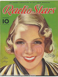 HELEN HAYES MOVIE ACTRESS VINTAGE EARL CHRISTY GRAPHIC ART MAGAZINE COVER 1936 - K-townConsignments