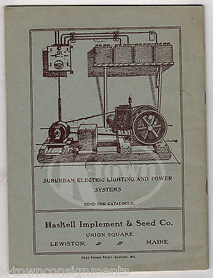 HASKELL IMPLEMENT & SEED CO LEWISTON MAINE ANTIQUE FARM EQUIPMENT CATALOG  1916