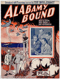 ALABAMY BOUND THE FOUR PALS BUD GREEN SONG ANTIQUE GRAPHIC ART SHEET MUSIC 1925 - K-townConsignments