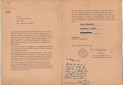 SERAPHIM GERMAN RUSSIAN ORTHODOX CHURCH BERLIN VINTAGE WWII POLITICAL LETTER - K-townConsignments