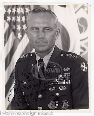 JOHN WICKHAM REAGAN CHIEF OF STAF 4 STAR GENERAL AUTOGRAPH SIGNED MILITARY PHOTO - K-townConsignments