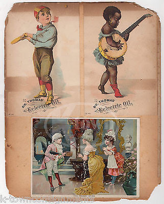 DR. THOMAS' ECLECTRIC OIL QUACK MEDICINE BASEBALL BLACK AMERICANA TRADE CARDS - K-townConsignments