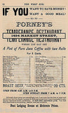FORNEY'S TEMPERANCE RESTAURANT PHILADELPHIA PA ANTIQUE ADVERTISING PRINT MENU - K-townConsignments
