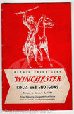 WINCHESTER RIFLES & SHUTGUNS VINTAGE GRAPHIC ADVERTISING RETAIL PRICE LIST BOOK - K-townConsignments