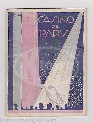 CASINO DE PARIS LES DOLLY SISTERS HAL SHERMAN LILY SCOTT THEATRE PLAYBILL 1928 - K-townConsignments