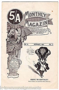 PHARO'S 5/A MONTHLY MAGAZINE ANTIQUE GRAPHIC ADVERTISING EQUESTRIAN NEWS 1901 - K-townConsignments