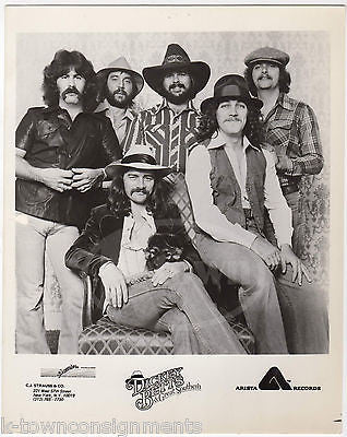 DICKEY BETTS & GREAT SOUTHERN BAND ARTISTA RECORDS VINTAGE STUDIO PROMO PHOTO - K-townConsignments