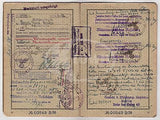 WWII CANCELED GERMAN PASSPORT W/ MANY TRAVEL STAMPS ITALY BERLIN REISEPASS 1939 - K-townConsignments